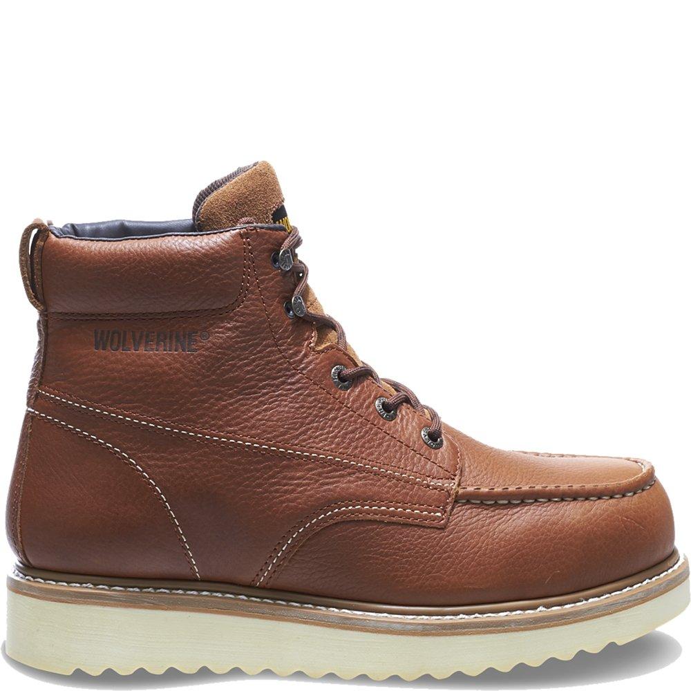 24e704c3bf9 Wolverine Men's 6 Steel Toe Work Boots,Brown,13 EW