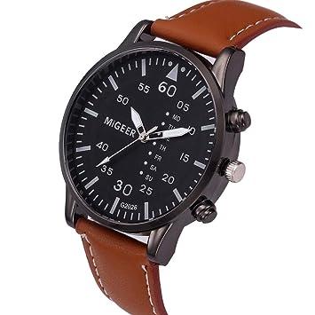 038d3191bf13 gotd deporte digital reloj de pulsera para mujeres hombres banda de cuero  de cuarzo analógico