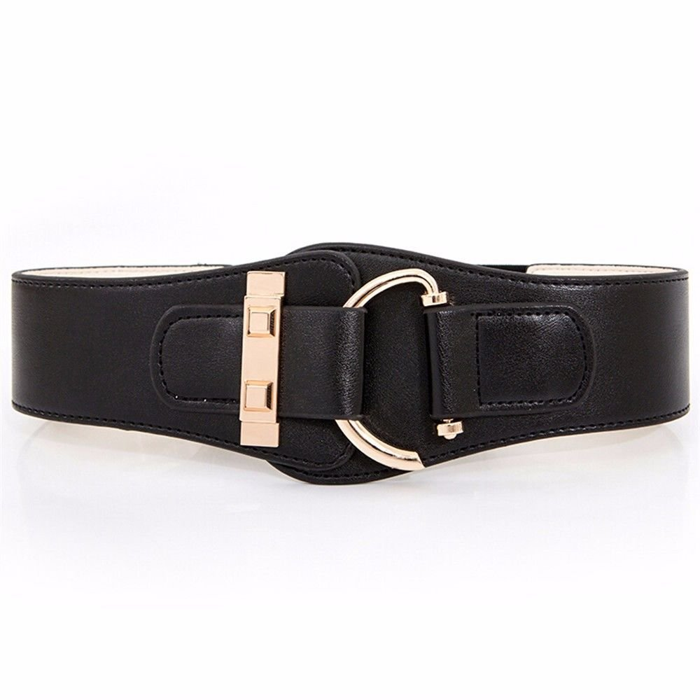 NSSBZZ Birthday gifts Simple. Fashion. Female. Girdle. Leisure time。 Thin. It's wide. Waist. Belt. Down Jackets。 The waist. It's tight. Belt,black,68CM
