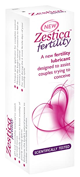 Zestica Spray Fertility Lubricant - up to 50 applications - Helps Sperm  Motility