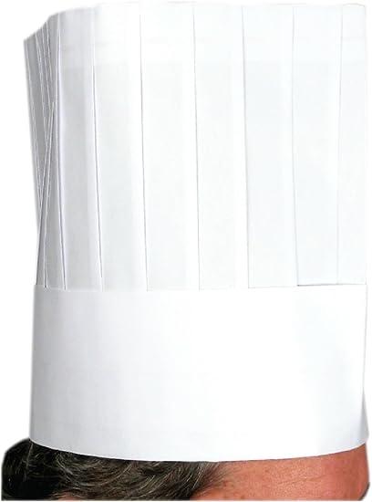 Amazon.com: Sombrero de chef, desechable, 12.0 in, 10 piezas ...