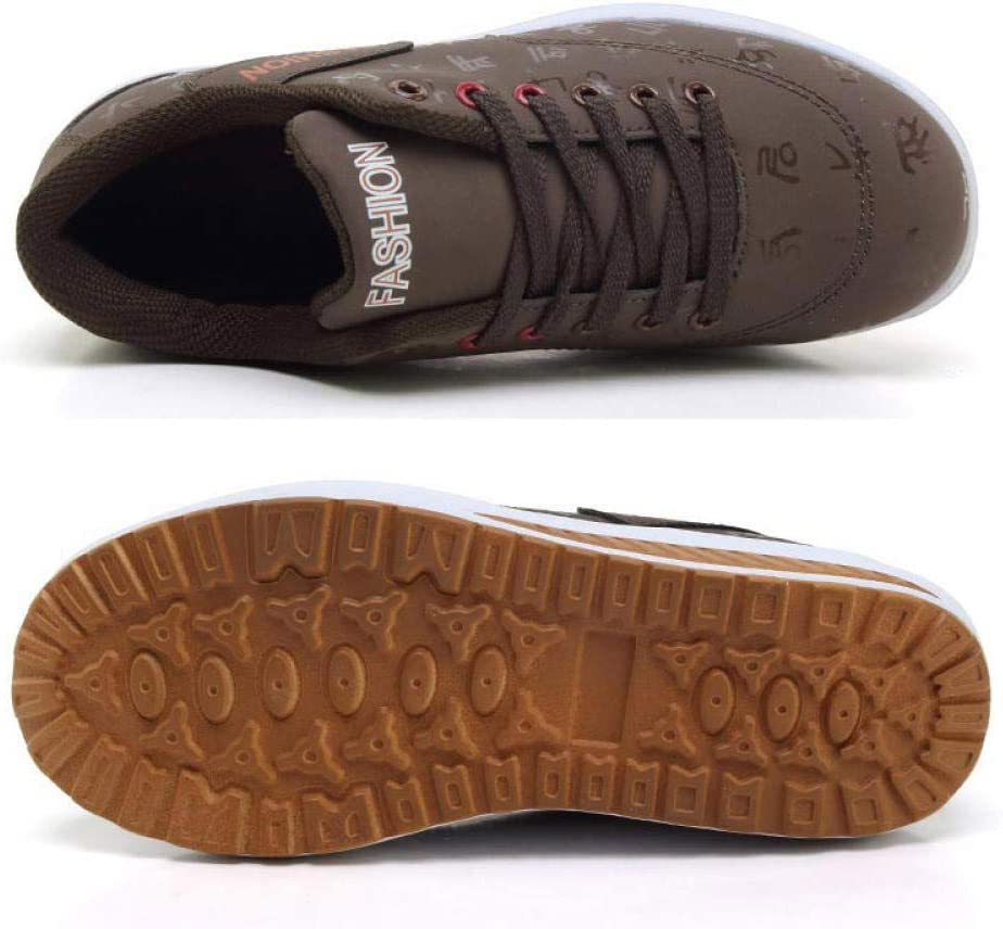 WFQGZ Sneakers in Pelle con Suola Spessa, Sneaker A Forma di Zeppa da Donna, Scarpe da Corsa da Donna, Suola da Donna con Suola Spessa, Scarpe Sportive con Tono Altalena, Donna brown