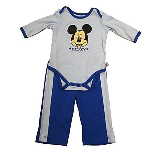2e17f2e2aac5 Amazon.com  Disney Mickey Mouse Big Face Baby Boys Creeper and Pants ...