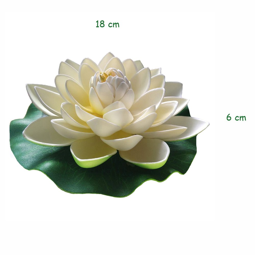 Amazon Emmix Floating Flower Foam Lotus Artificial Water Lily