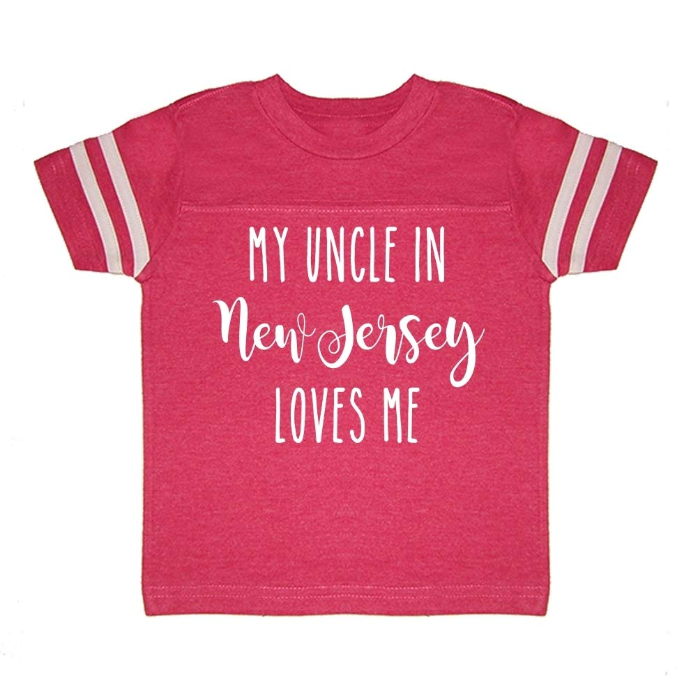Toddler//Kids Sporty T-Shirt My Uncle in New Jersey Loves Me