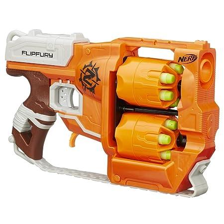 Nerf Zombie Strike Flipfury Blaster Toy for Kids Blasters & Toy Guns at amazon