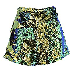 Green/Gold Sequins Short