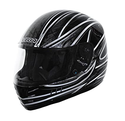 Vega Trak Full Face Karting Helmet with Universe Graphic (Black, X-Small)