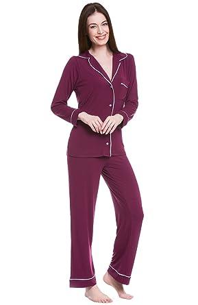 Alexander Del Rossa Womens Modal Knit Pajamas 726e5a799