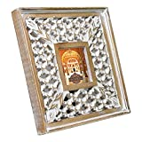 Indian Heritage Wooden Photo Frame MDF Cutwork Design in White Distress Finish