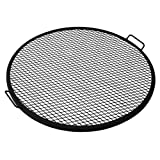 Sunnydaze X-Marks Fire Pit Cooking Grill, 30 Inch Diameter