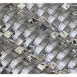 Wicker Barrel Ripple Series Taupe Brown 3D Wave Backsplash Glass Stone Mosaic Tile for Kitchen Bathroom (Sample)