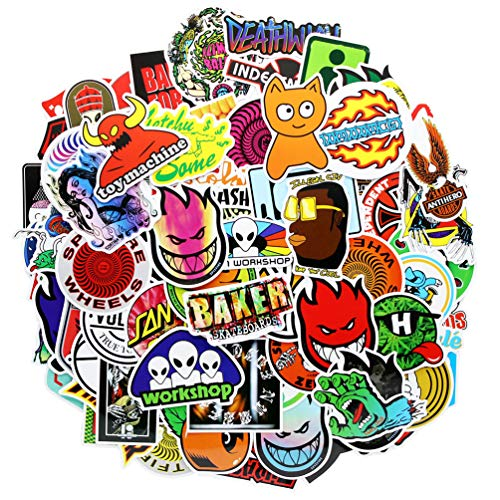 Big Save! Brand Laptop Stickers 100 Pcs Pack Cool Vinyl Waterproof Sticker Skateboard Pad MacBook Ca...