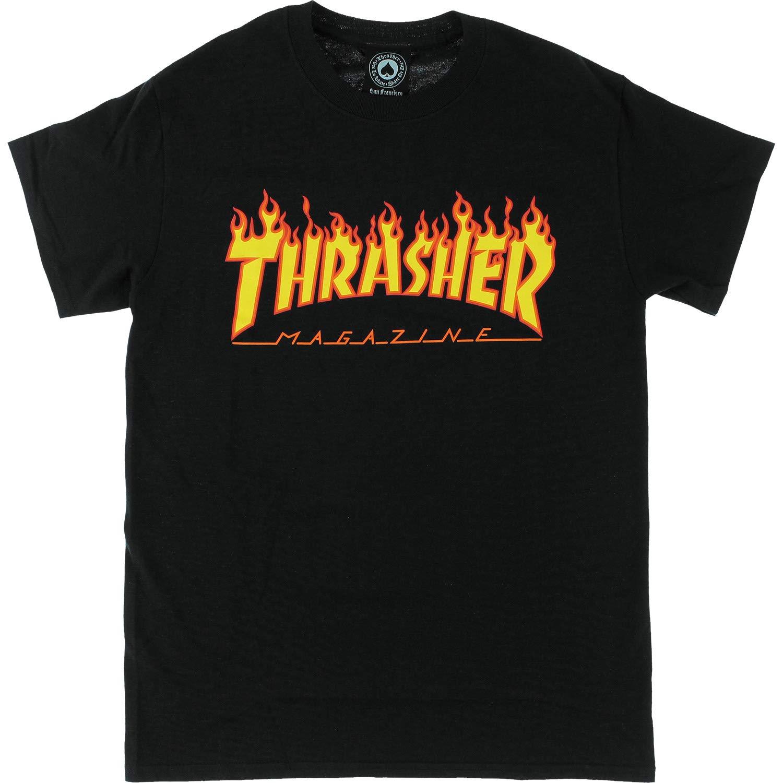 Thrasher Flame T-Shirt [X-Large] Black