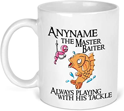 Master Baiter Mug Funny Fishing Joke Playing With Tackle Gift For Him Fishing Gift Fisherman Amazon Co Uk Kitchen Home