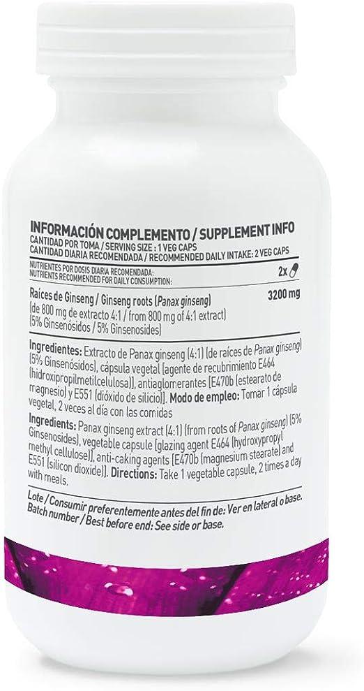 Panax Ginseng Coreano de HSN | 400mg Con 5% Ginsenósidos| Aumenta ...