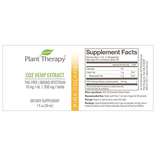 Amazon com : Plant Therapy CO2 Hemp Extract - Helpful for Anxiety