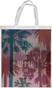 enjoy the summer time Printed Shopping bag, Small Size