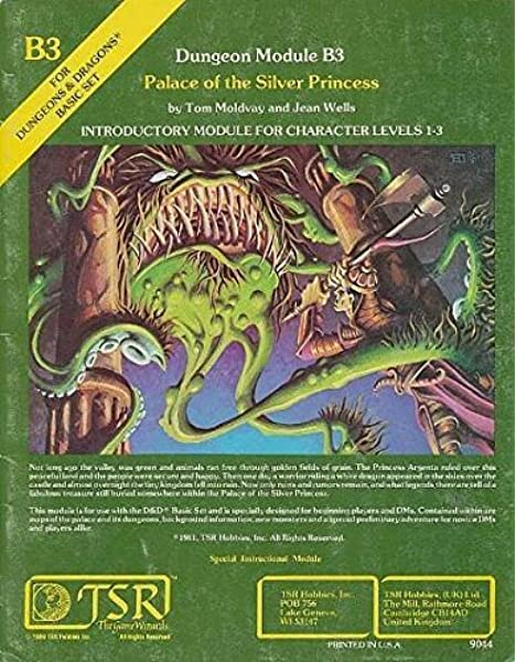 Palace Of The Silver Princess Ad D Fantasy Roleplaying Module B3 Moldvay Tom Jean Wells 9780935696318 Books