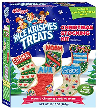 crafty cooking kits kelloggs rice krispies treats christmas stocking 1018 ounce