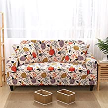 Forcheer 1-Piece Stretch Sofa Slipcover Couch Covers Printed Spandex Fabric Sofa Cover Protector (Flower #3 ,Big Sofa)