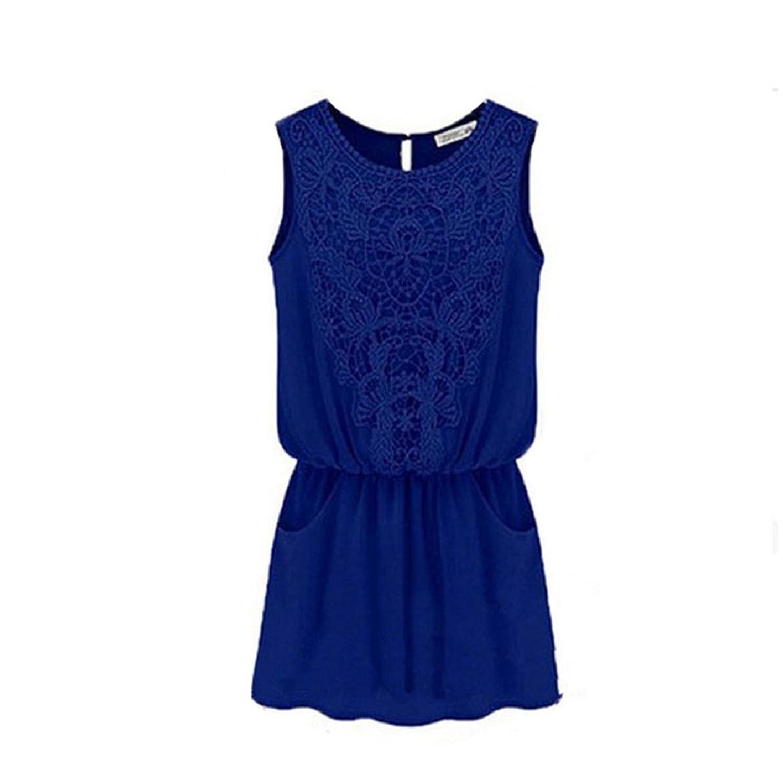 Malloom® Frauen Damen Beiläufiges Chiffon Kleid Abend Cocktailparty Sommerkleid