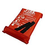 1m x 1m Fibre Glass Fire Blanket - Wall Mountable & Quick Release Tabs