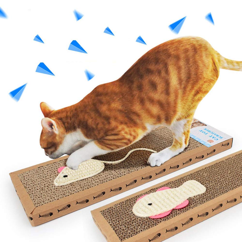 DUOBANGS Gato de la Junta Rascador de Gato Catnip Vertical de 3 Lados Barril Gato rasgu/ño Anti Gato del /árbol rascador Jugar Sisal Atrapado Tejido Gatito