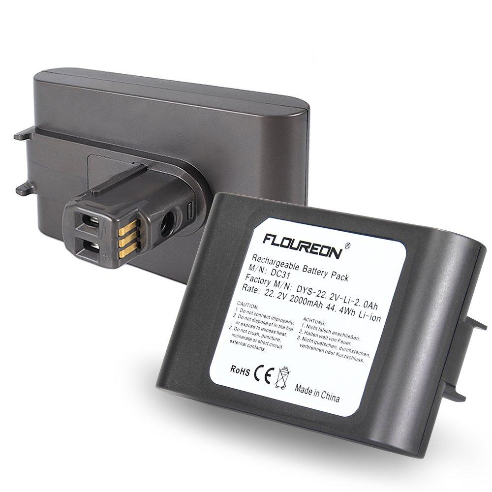 FLOUREON 22.2V 2000mAh DC31 D35 Battery Pack 6-Cell for Dyson DC31 DC34 DC35 Handheld Vacuum Cleaner 17083 17083-01 17083-05 17083-07 17083-09 17083-2811 17083-5211 64167-1113 64167-2713 Li-ion20