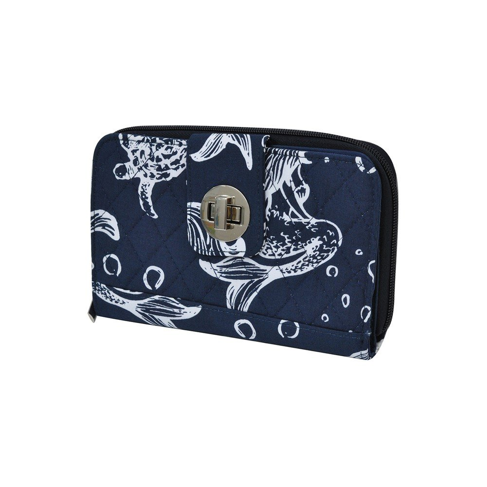 Mermaid NGIL Quilted Twist Lock Wallet
