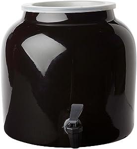 New Wave Enviro Products Porcelain Water Dispenser, Black, 2.5 Gallon