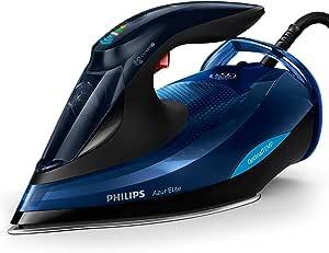 Philips Azur Elite Steam Iron with OptimalTEMP Technology, 240g Steam Boost & Safety Automatic Shut-Off, 2400W, Black/Blue, GC5031/20