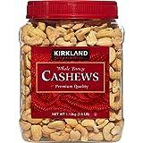 Kirkland Signature Whole Cashews, 2.5 Lbs Jar (Pack of 3, Total of 7.5 Lbs)