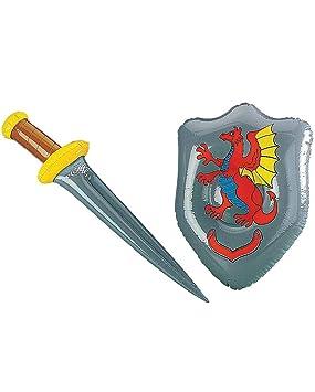 Horror-Shop Espada con escudo inflable: Amazon.es: Juguetes ...