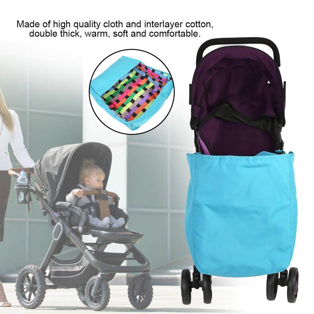 resistente al viento Saco universal para cochecito de beb/é con forro de algod/ón para cochecito de beb/é reci/én nacido suave y c/álido para viajes al aire libre en invierno azul azul