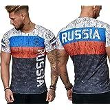 Mister B Folsom Special ⚽Men's Fan 2018 World Cup - Soccer T-Shirt Jersey soccer shirt ⚽ (Russia, L)