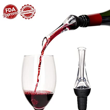 [versión actualizada] aireador de vino Pourer – airear boquillas aireador de vino decantador de
