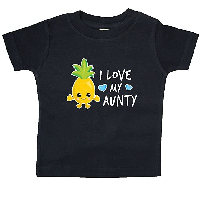 inktastic I Love My Aunt with Pineapple Baby T-Shirt