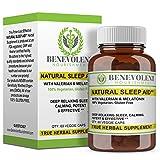 Natural Sleep Aid - True Herbal Supplement With Organic Valerian Root & Melatonin - Potent & Effective Non Habit Forming - 100% Vegetarian & Gluten Free Formula