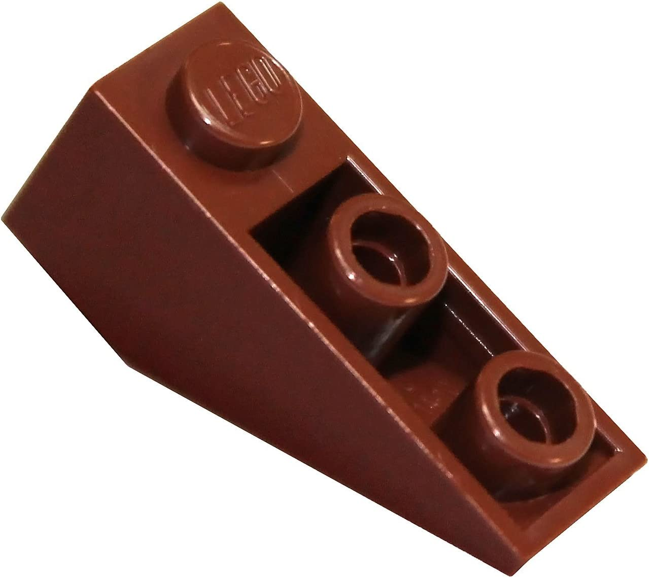 LEGO Parts and Pieces: Reddish Brown 1x3 33 deg. Inverted Slope x50