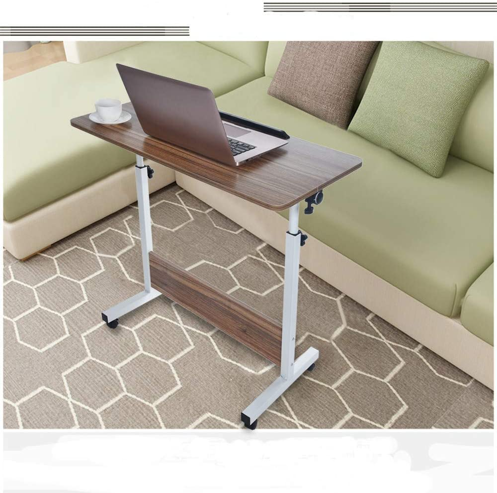 Portable Household Adjustable Height and Folded Folding Laptop Table 80cm40cm Household Folding Computer Desk Yellow