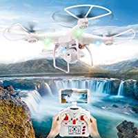 OOFAY Drone with Camera Air Pressure Set High Wifi Real-Time Transmission Aerial Drone Remote Control Aircraft Quadcopter