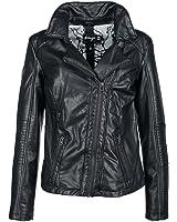 MAZE Jacke Peoria Damenjacke, Bikerstyle, Lederoptik, Reißverschluss, black,