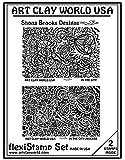 Flexistamps Texture Sheet Set Shona Brooks In The City Set (Including In The City and In The City Inverse)- 2 Pc.