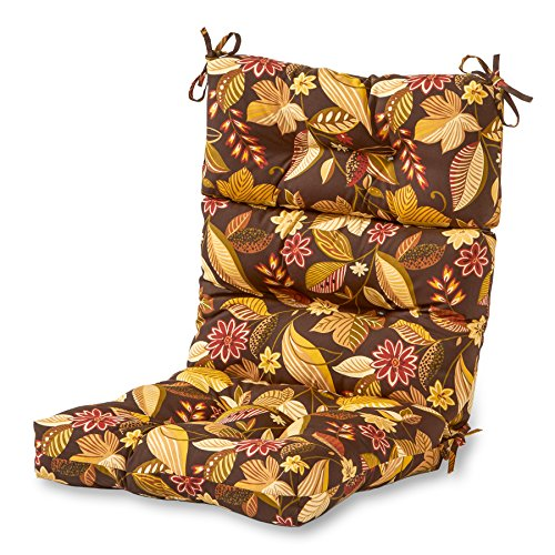 (Greendale Home Fashions Indoor/Outdoor High Back Chair Cushion, Timberland Floral)