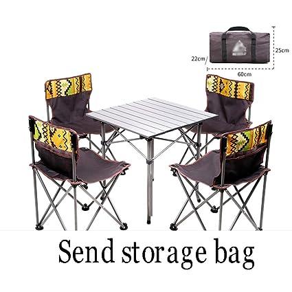 Mesa Plegable y Juego de sillas Mesa y sillas de Picnic livianas ...
