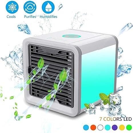 SJZQ Personal Acondicionador Aire PortáTil, Purificador Humidificador USB, Ventilador Enfriamiento,Oficinas, Interiores: Amazon.es: Deportes y aire libre