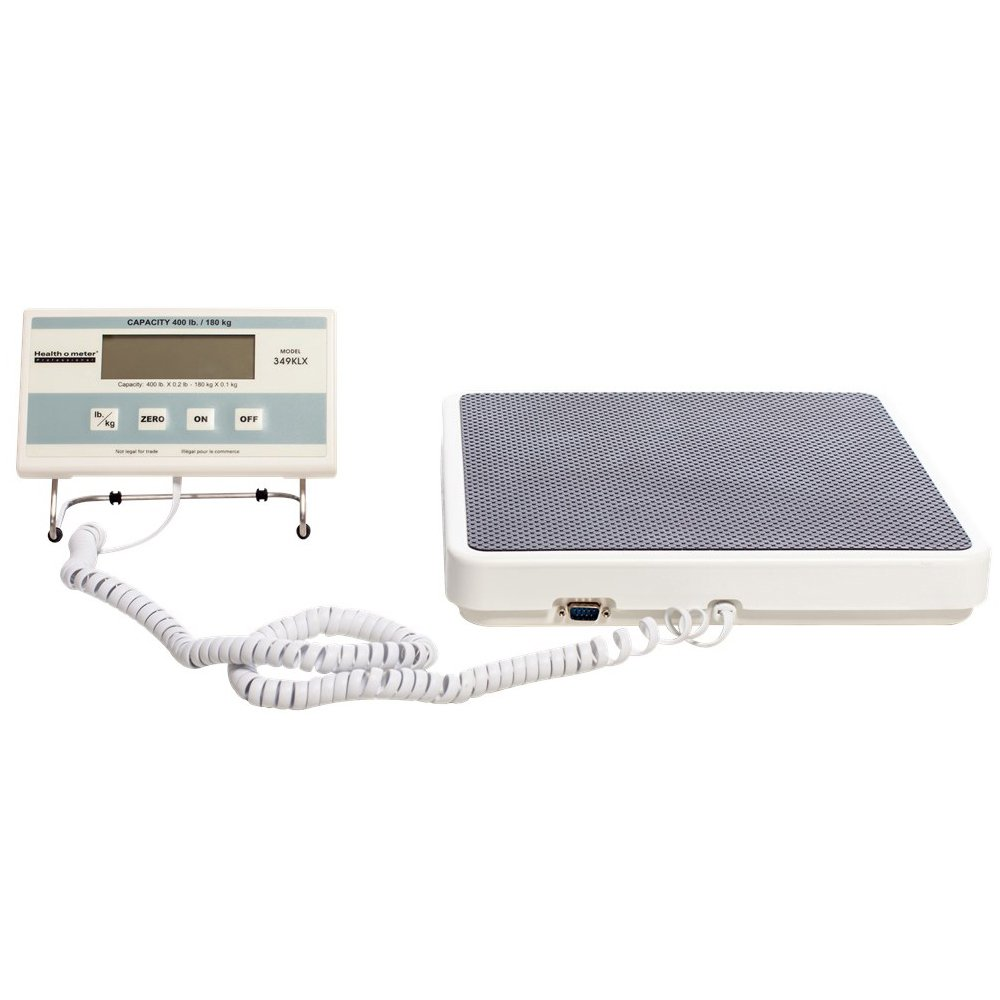 HealthOMeter 349KLX Medical Remote Weight Scale and Carrying Case