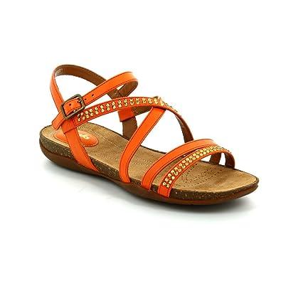 b84cd66a059fe0 Clarks 2379-74D Autumn Peace Orange Womens Sandals  Amazon.co.uk  Shoes    Bags