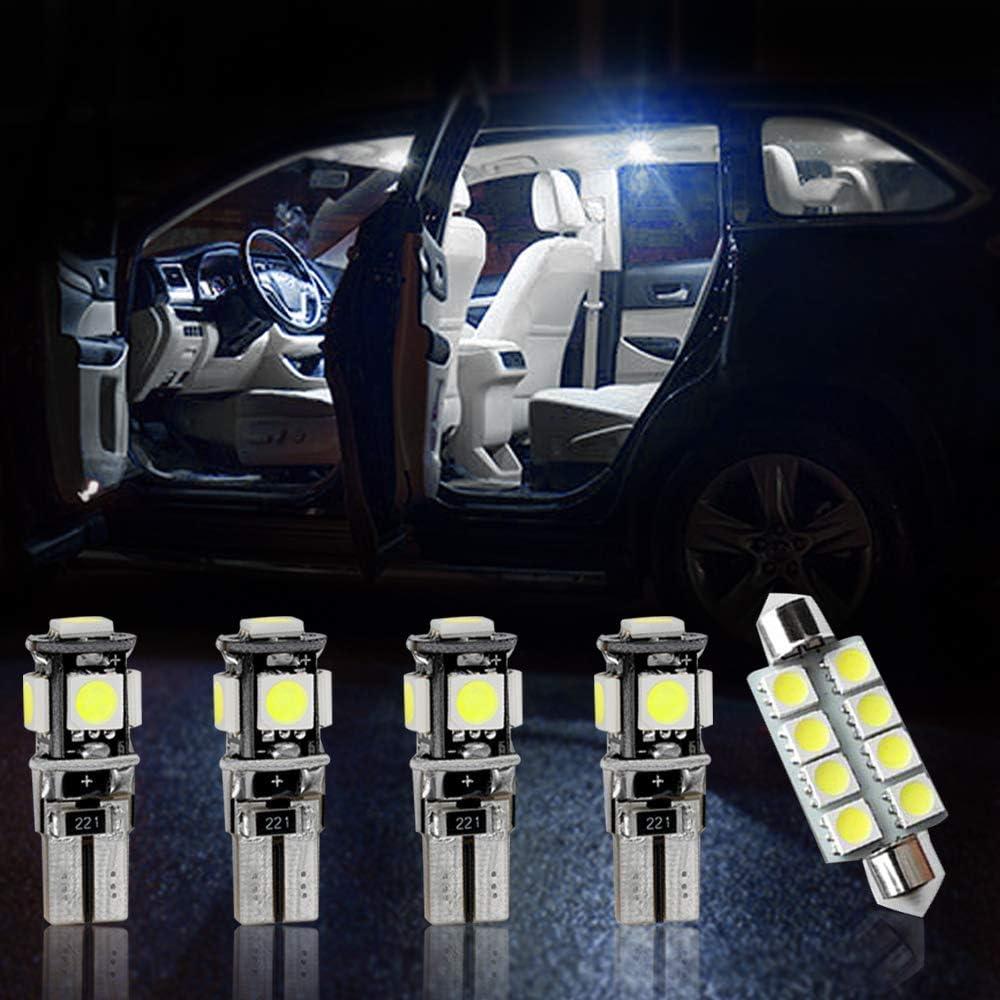 Longzhimei Ampoules de Voiture Lampe pour B M W X1 F48 Ampoules LED Pour Voiture Int/érieur Carte d/ôme lampe de lecture 12Pi/èces Blanc